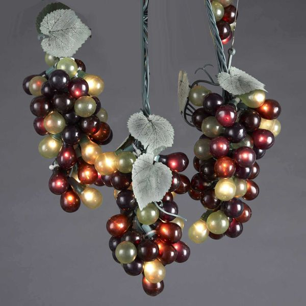 Outdoor Hanging Grape Lights: String Of Lights Grape And Vine. Fun Accent Lights For