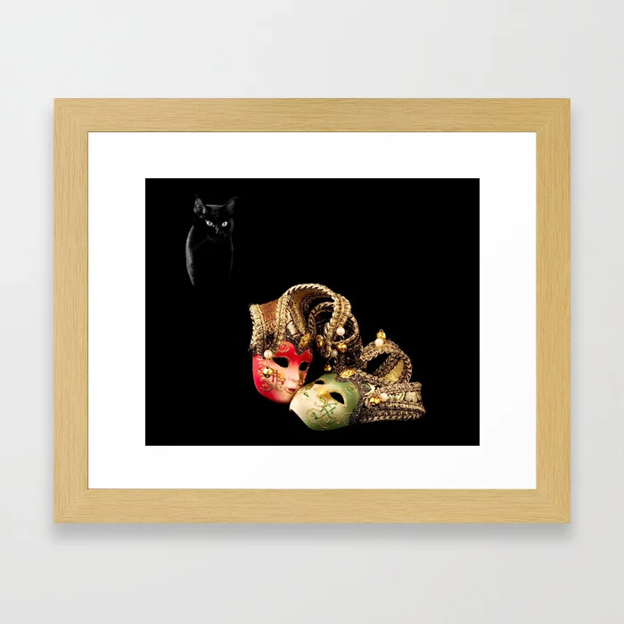 Buy Black cat and love Framed Art Print by alexlyubar. Worldwide shipping available at Society6.com. Just one of millions of high quality products available.