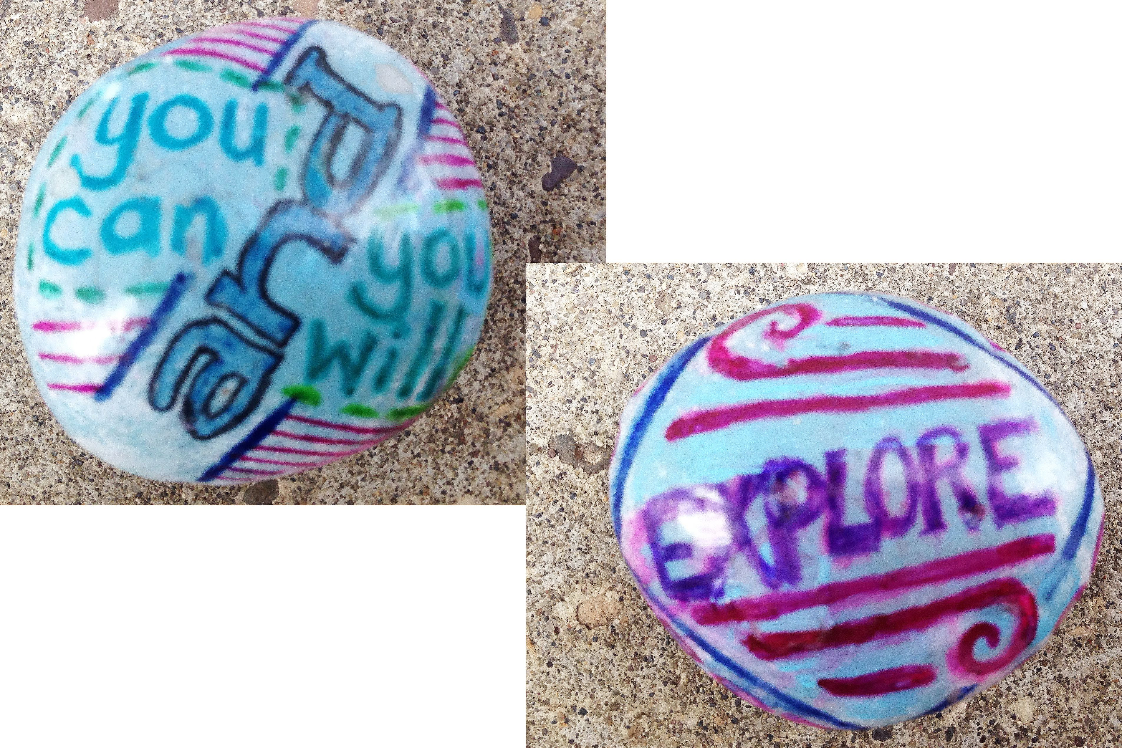Rocks I have painted and leave for others to find