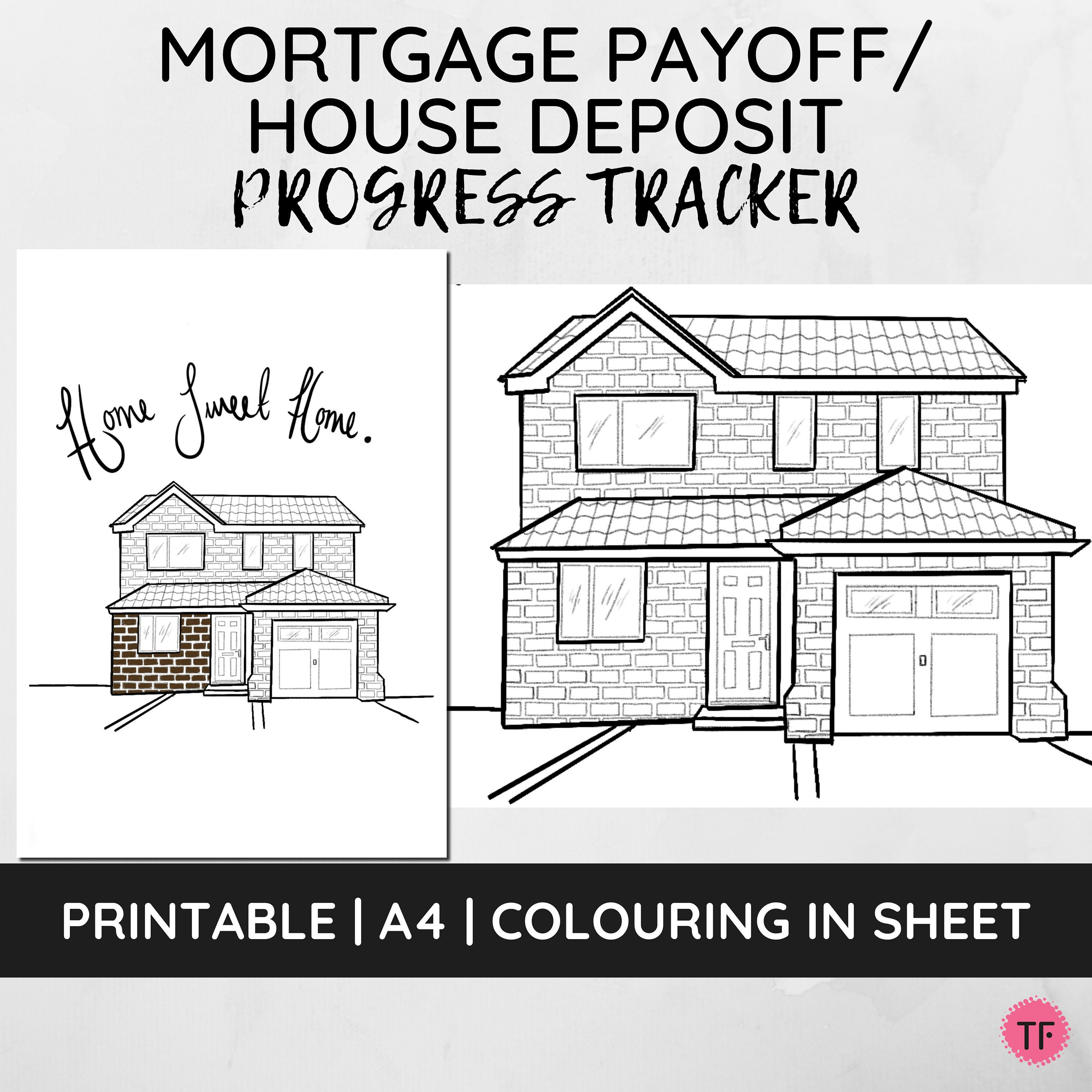 Progress Tracker House Deposit Mortgage Payoff Debt Etsy In 2020 Mortgage Payoff Debt Tracker Debt Payoff