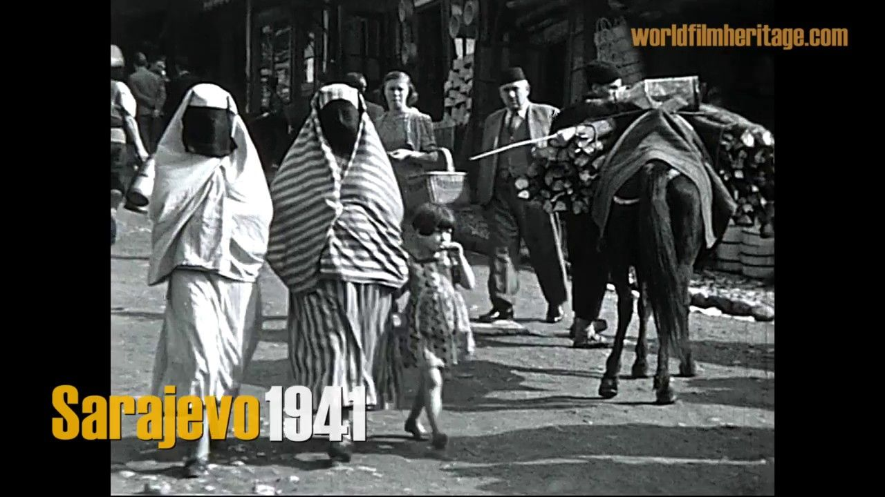 Sarajevo 1941 German Occupation Ilijas Sarajevo German Army Street Scenes