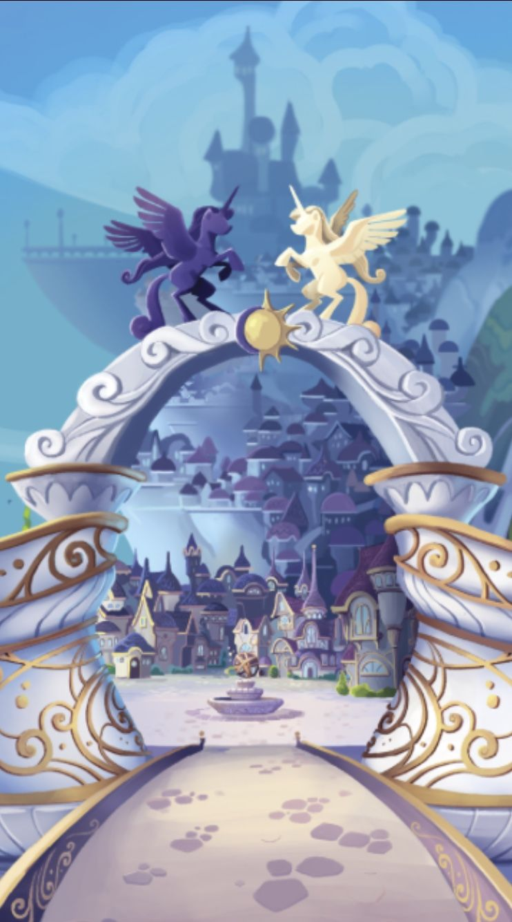 mlp: outside the gates of canterlot iphone wallpaper | my little