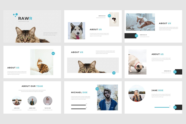 Rawr Google Slides Template Service animal, Powerpoint