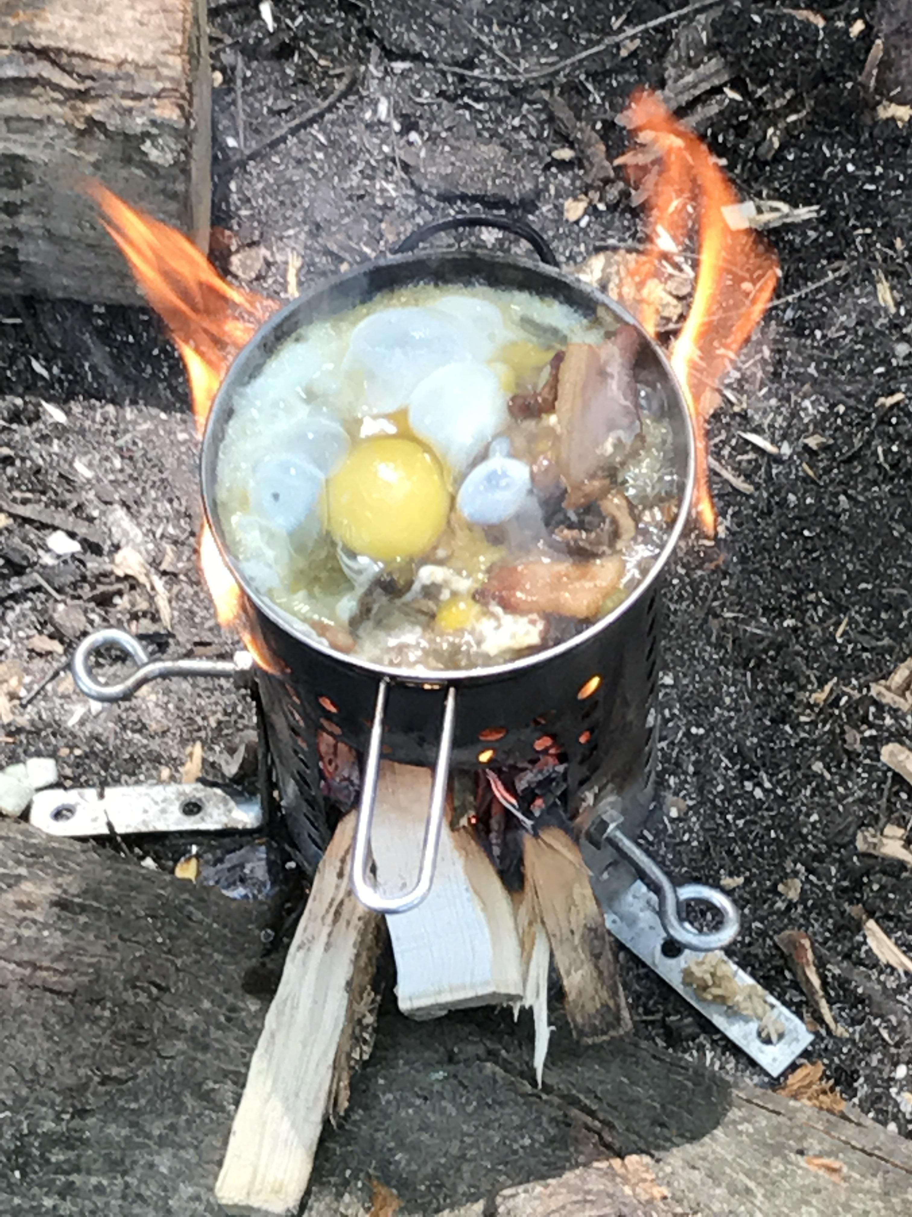 Breakfast on my diy ikea hobo stove crystal lake national