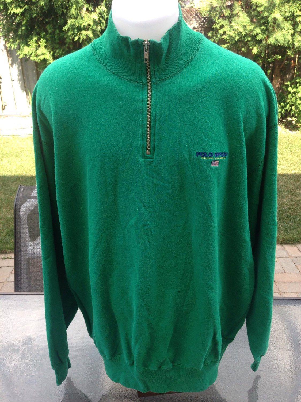 00e0231b5 Vintage Green Polo Sport Half Zip Sweater