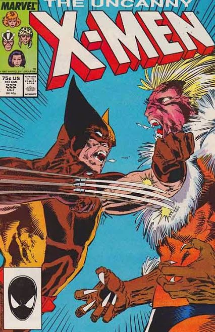The Uncanny X-men #222 October, 1987 Chris Claremont Story. Marc Silvestri Cover Artist And Pencils.