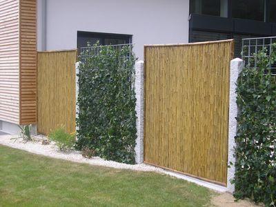 sichtschutz aus weide haselnuss bambus und l rche oder. Black Bedroom Furniture Sets. Home Design Ideas