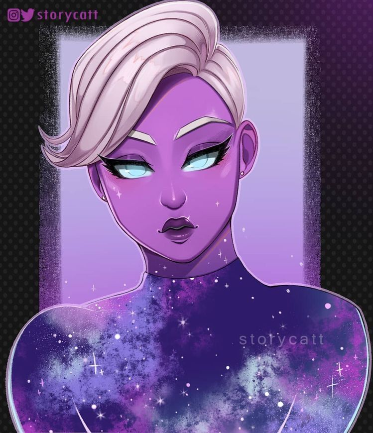 Galaxy Scout Fanart Deadpool Pictures Anime Galaxy Skin Drawing