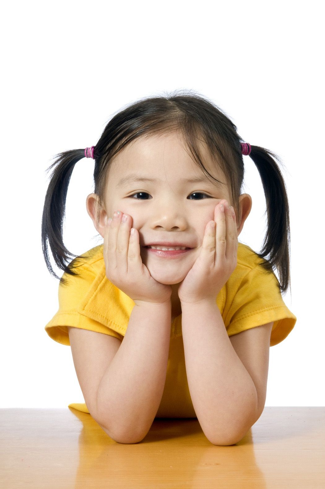 little chinese girl smiling so cute | cute in pig tails