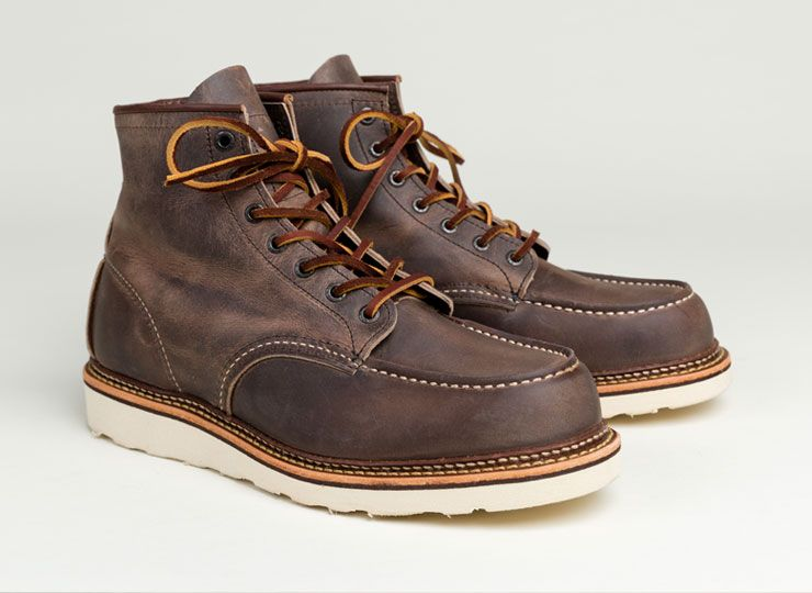 Red Wing Mens Classic 6 Inch Moc 8883 Concrete Rough/Tough Boot ...