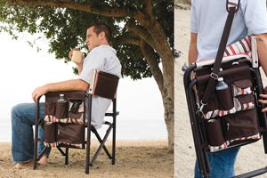 Picnic Time Sports Chair Small Bedroom Ideas Armrests Are Padded For Optimal Comfort Side Of The Has An Accessories Panel That Includes Many Pockets To Hold Such Items As Your