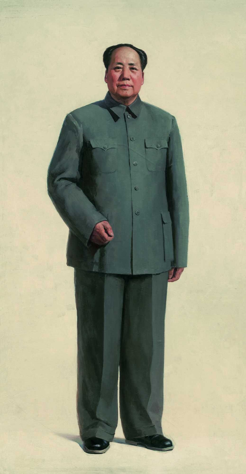 Jin Shangyi Chairman Mao S Full Length 1966 Contemporary Oil Paintings Portrait Art Artist Painting