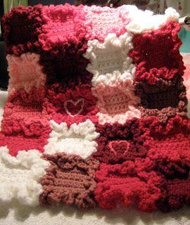 Erndales N Mais: Blanket minúsculo Corações Doll - Livre Padrão!