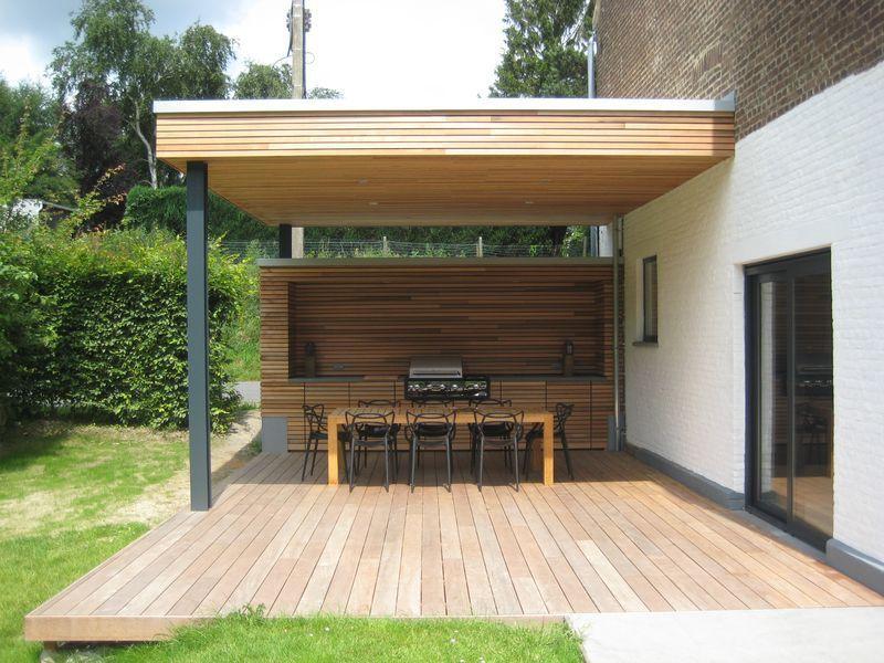 Programme: Création Du0027une Terrasse Couverte Avec Cuisine Extérieure Et  Barbecue Intégré Stade Actuel