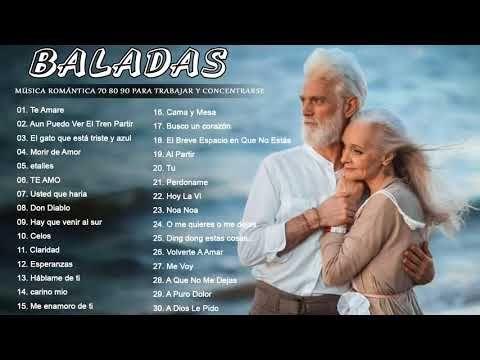 Música Romántica 70 80 90 Para Trabajar y Concentrarse ♥♥♥♥ Baladas  Romanticas en Españo… | Musica romantica, Musica romantica en español,  Musica baladas romanticas