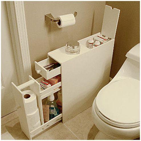 Storage for small bathroom Home Pinterest Tela, Baños y Baño