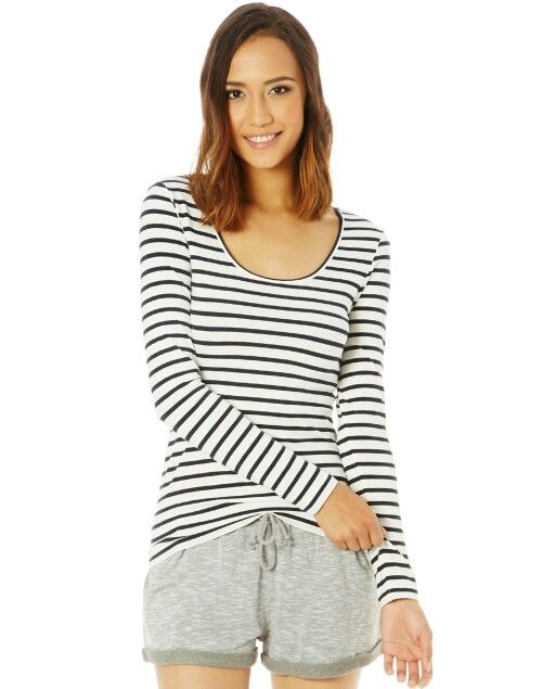 Glassons | Striped top, Tops, Clothes