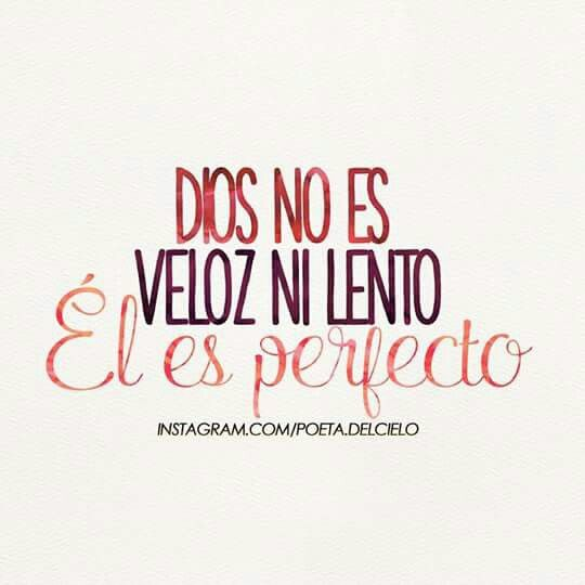 Dios es perfecto