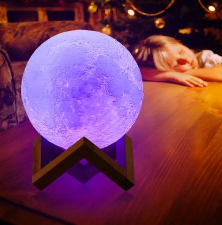 3d Lunar Moon Lamp In 2020 Night Light Childrens Night Light Decor