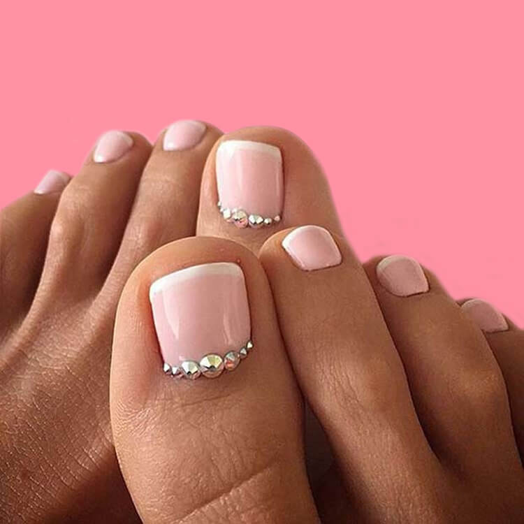 50 Pretty Toe Nail Designs You Should Try In This Summer Showmybeauty Pedicure Designs Toenails Pedicure Designs Wedding Nail Art Design