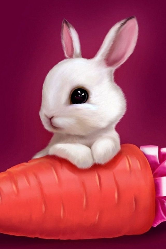 Sweet rabbit woth a carrot