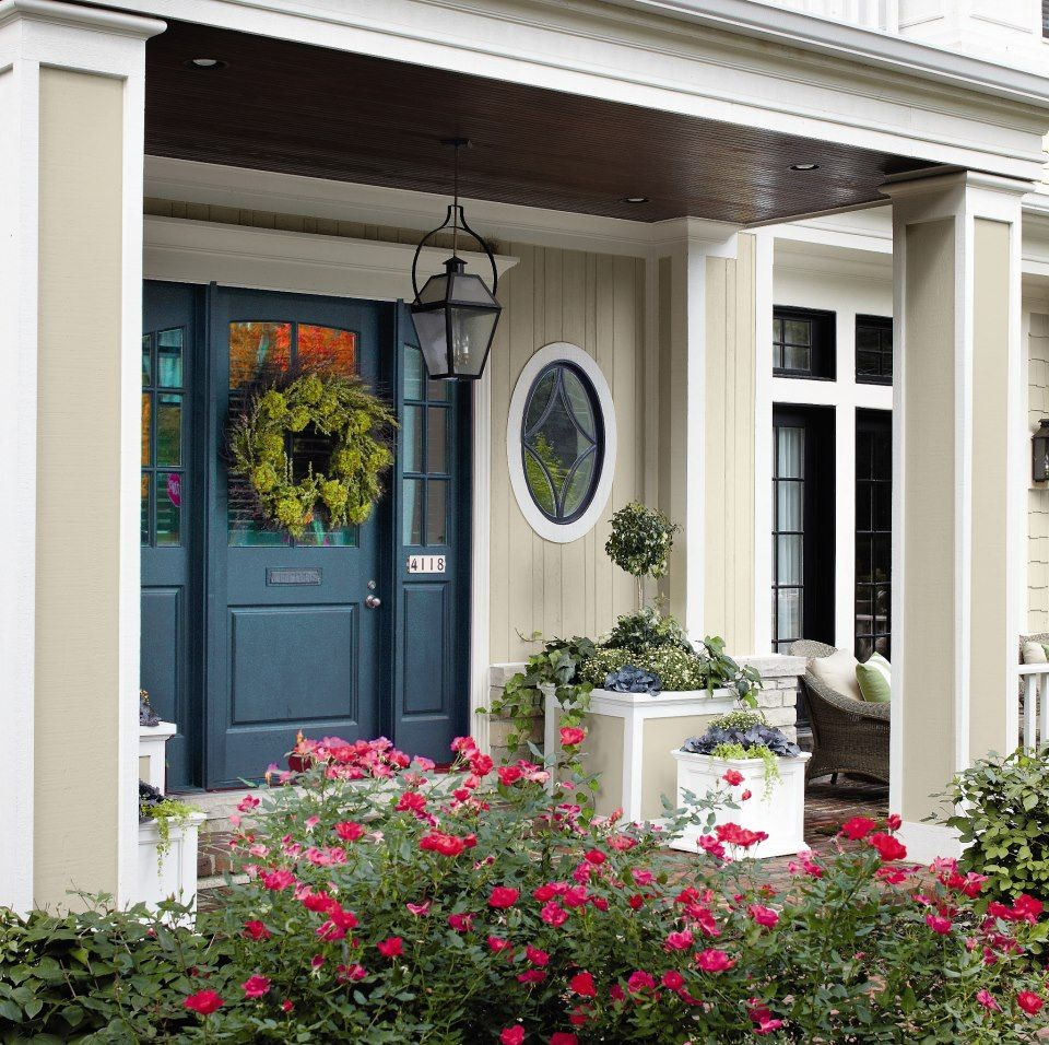 Brick House Front Door Color: I Did Paint The Front Door This Color...it Look Great