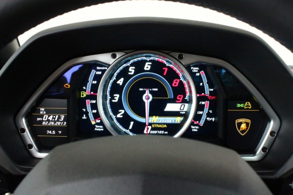 Lamborghini Aventador Speedometer | Lamborghini ...