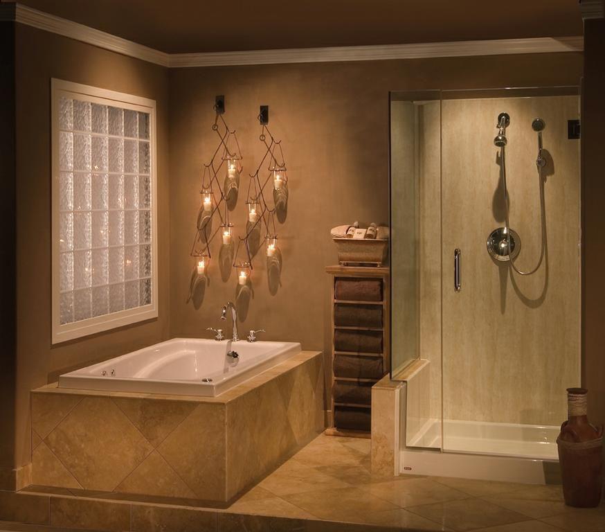 Bathroom Fixtures Ventura crema travertine tub and shower | pacific coast rebath | 813 east