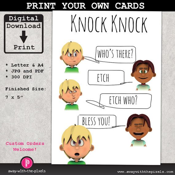 Knock knock joke etch who greeting card for kids instant download knock knock joke etch who greeting card for kids instant download printable pdf jpg bookmarktalkfo Choice Image