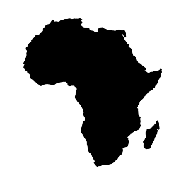 Silhouettes Of Continents Africa Silhouette Africa Tattoos African Tattoo