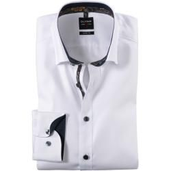 Photo of Olymp Level Five shirt, body fit, under-button-down, white, 40 Olympus