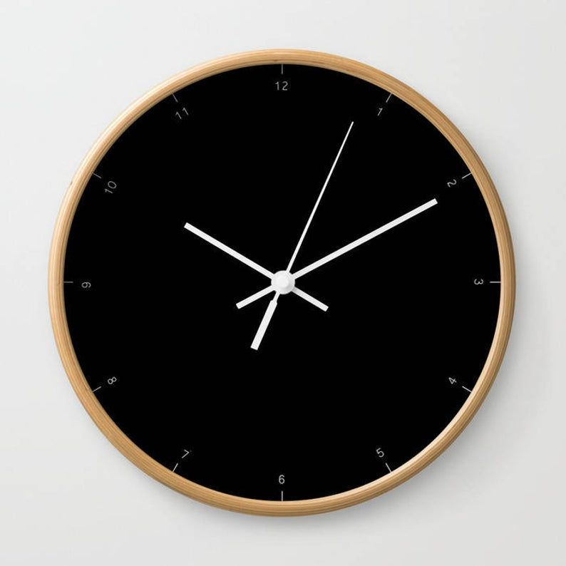 Wall Clock With Small Numbers Of Hours, Very Chic And
