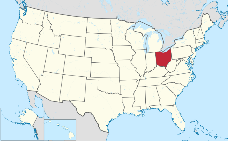 FileOhio In United Statessvg Ohio Pinterest United States - Us map with florida highlighted