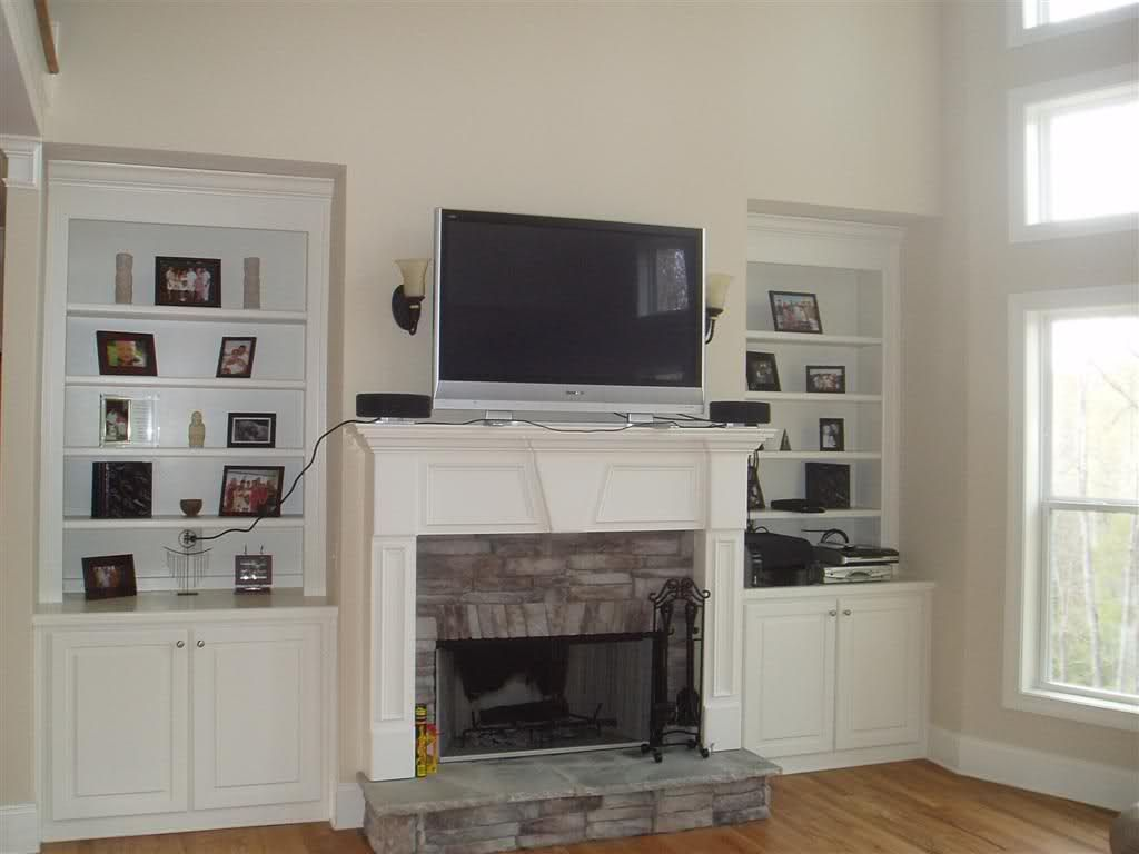 Room TV Over Fireplace Ideas