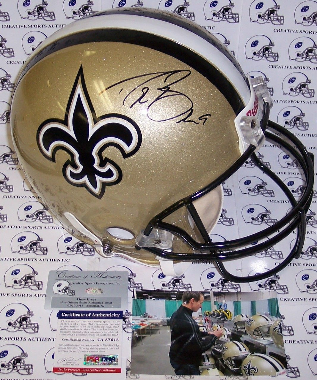 55c4549ca Drew Brees Autographed Hand Signed New Orleans Saints Authentic Helmet - PSA /DNA