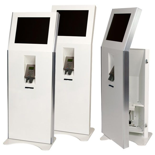 Ticketing Kiosk Lectern Ultra Slim 19 Touch Retail