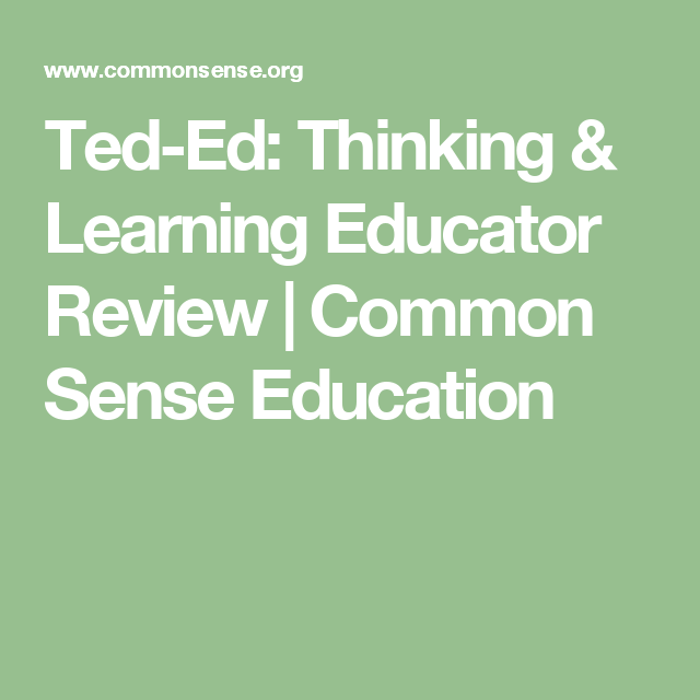 Ted-Ed: Thinking & Learning Educator Review | Common Sense