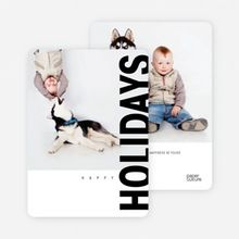 Gifts of the Holidays Cards - Black