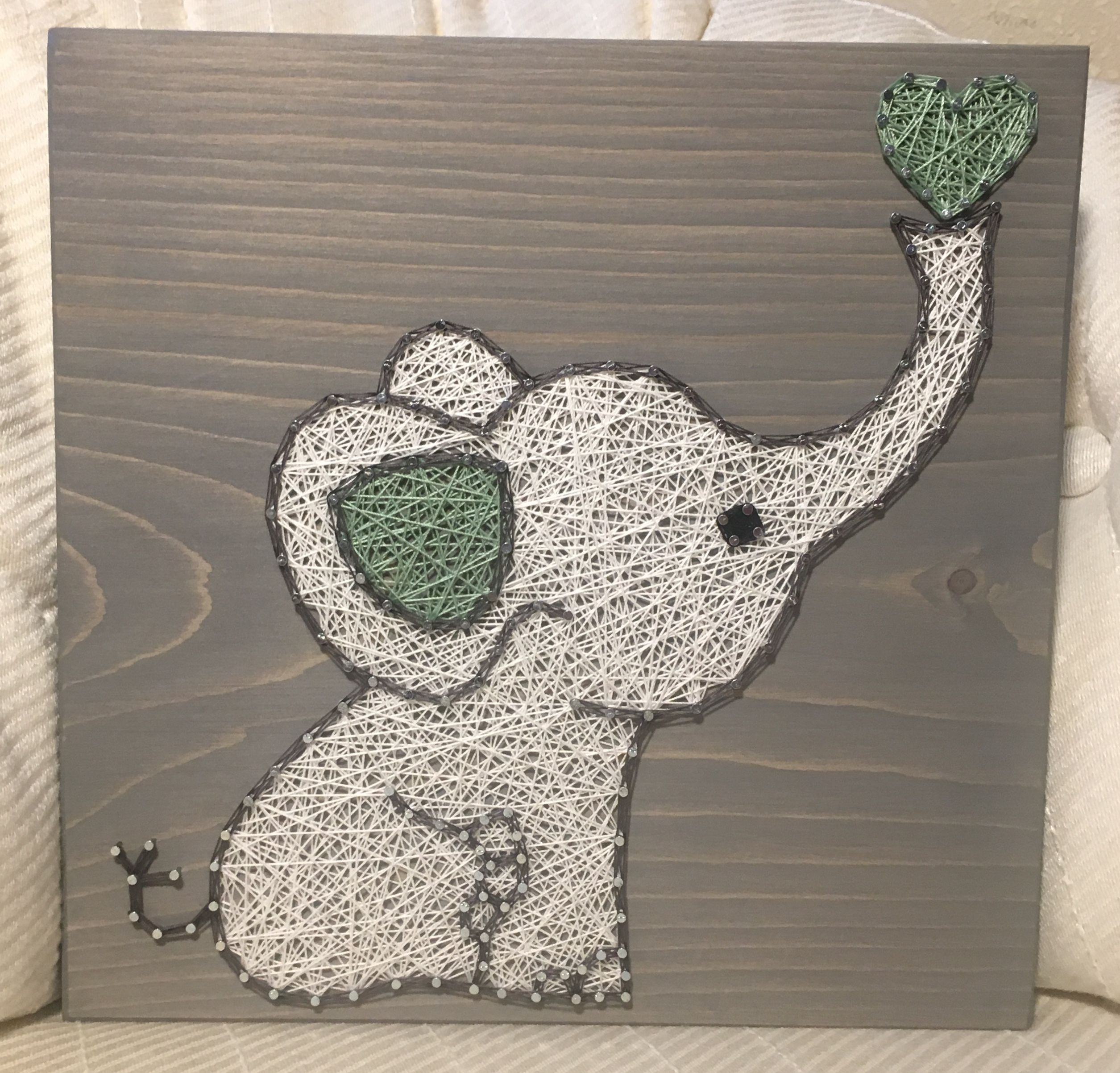 Elephant String Art Nursery order from