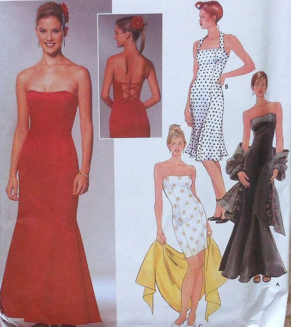 strapless gowndress sewing pattern sewing patterns