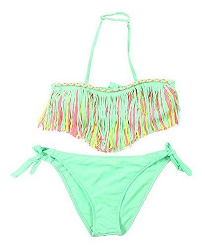 159f8c2f06d05 Ru Sweet Tassels Two Piece Bikini Swimsuits Bandage Bathing Suits for Girls  *** To view further for this item, visit the image link.