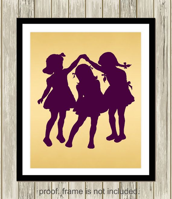 Sisters wall art, three sisters wall art, siblings wall art, shared ...
