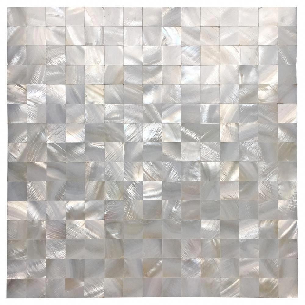 Art3d 12 In X 12 In Mother Of Pearl Shell Mosaic Tile Backsplash In White A18011p10 In 2020 Mosaic Tiles Stick On Tiles Mosaic Wall Tiles