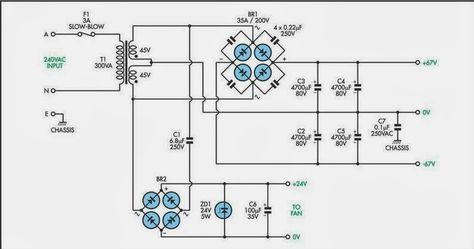 200w subwoofer amplifier circuit amplifiercircuits com 300w rh pinterest ca Schematic of a Simple Subwoofer Circuit 4 Ohm 3 Watt Subwoofer Schematic Diagram