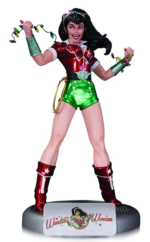 DC COMICS BOMBSHELLS HOLIDAY WONDER WOMAN STATUE
