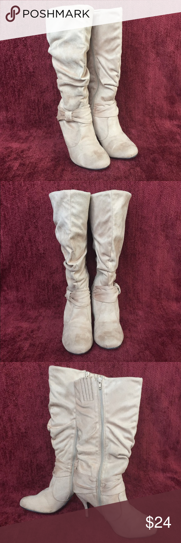CR Suede Boots Charlotte Russe Faux Suede Boots Charlotte Russe Shoes Heeled Boots