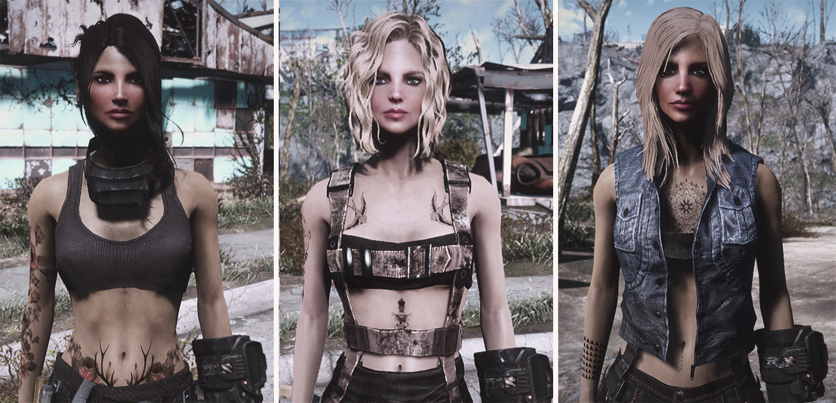 Femshepping's Wanderer Tattoos - VANILLA BODY at Fallout 4 Nexus