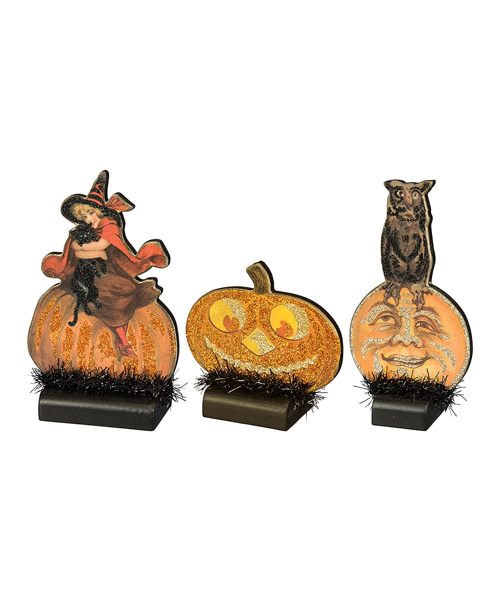 primitives by kathy vintage halloween stand up set - Primitives By Kathy Halloween