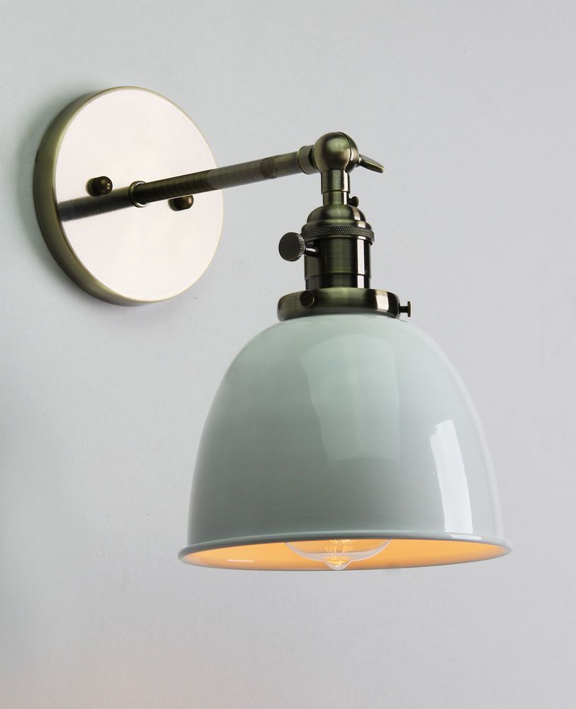 Kitchen Wall Lights Aid Glass Bowl Vintage Antique Industrial Sconce Loft Light Lamp E27 Style Cofe Rustic In Home Furniture Diy Lighting Ebay