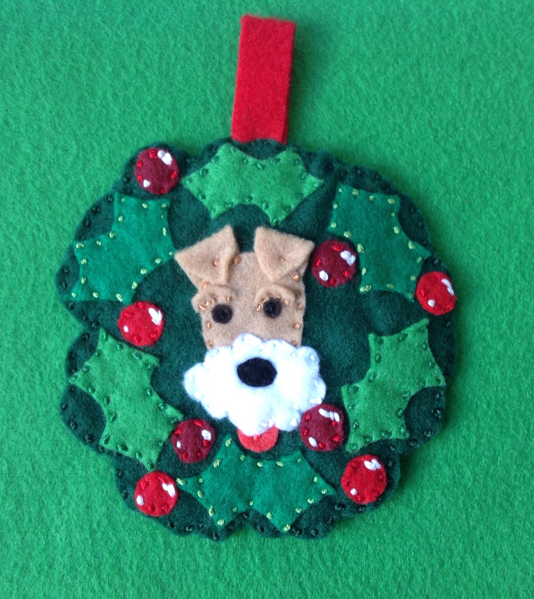 Wire Fox Terrier Christmas Ornament By Ecotrinkets Amy Monthei Copyright